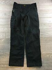 Caterpillar  Men's Black Cargo Work Pants 32/32 Heavy Duty Canvas