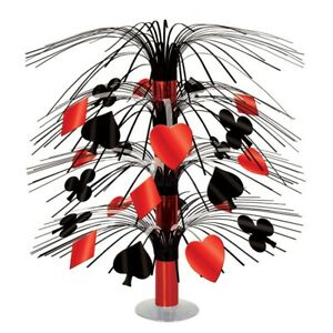 Casino /  Playing Cards Themed Mini Cascade Centrepiece Party Decoration - New