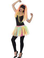 Neon Ladies Party Princess Tutu Kit - 1980s Veil Fancy Dress Costume Tiara