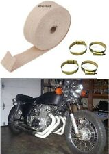 Motorcycle EXHAUST SILENCER HEAT SINK COOLING WRAP 6m CREAM For Royal Enfield