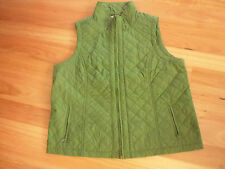 LADIES CUTE GREEN NYLON/ POLYESTER PADDED SLEEVESS JACKET BY REGATTA - SIZE 18