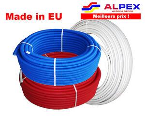 Alpex Multicouche NU GAINE ISOLE. D 16 - 26 mm Chauffage Sanitaire. Made in EU