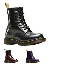Dr.Martens 1460 Vegan Chrome Synthetic Lace-Up Combat Womens Boots