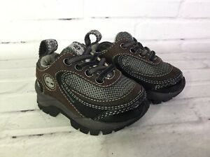 Timberland 13883 Baby Toddler Boys Size 4 Lace Ox Brown Waterproof Sneakers Shoe