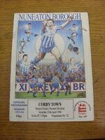 23/04/1994 Nuneaton Borough v Corby Town  (Light Crease). Footy Progs/Bobfrankan
