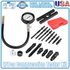 Brand New 17Pc Diesel Engine Cylinder Compression Test Tester Kit & Gauge US