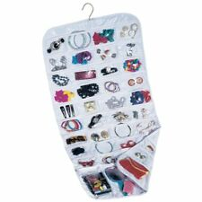 72 Soft Pockets Hanging Jewellery Organizer Storage Bag Closet Display Hanger US