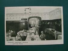 """AK 1926 Karlsbad Rest. """"Liederhalle"""" - Josef Junger, Besitzer - Originalfotos"""