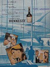 PUBLICITE HENNESSY COGNAC BRAS ARME A ORLY AVION SIGNE JEAN COLIN DE 1967 AD PUB