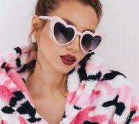 NEW Unique Love Heart Shape Plastic Frame Sunglasses Women Fashion Shades 2018