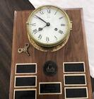 Vintage  German Schatz Ship Brass Clock on Airwing Nine Vietnam Plaque