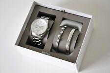 FOSSIL SET Uhr Damenuhr+ 2 Armbänder BQ3200 Edelstahl silber