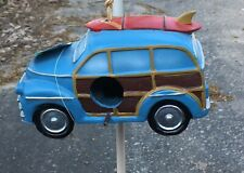 SURF VAN/ WOODIE BIRD HOUSE DECORATION OUTDOOR RESIN MATERIAL BRAND NEW WITH TAG