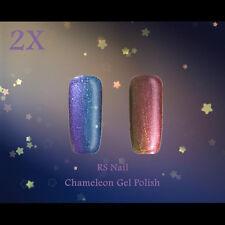 2X RS Nail 0408 Chameleon Gel Colour Changing UV LED Gel Polish Varnish Glitter