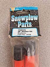 """Snow Plow Blade Guides 28"""" Orange Universal Marker Kit W/Hardware # 1308105"""