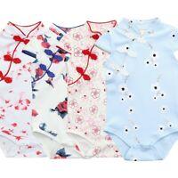 Infant Baby Girls Floral Print Dress Sleeveless Cheongsam Chinese Style Romper