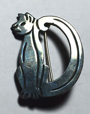 Vintage Sterling Signed Mexico Tp-97 Kitten Cat Brooch Pin Hp229