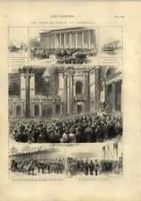 1873 The Shah Of Persia Liverpool St Georges Hall