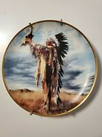 """Native American PRAYER TO THE GREAT SPIRIT collector's plate 8"""" Wall Decor"""