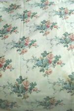 More details for large remnant cream vintage floral cotton chintz fabric 2.45m wide x 5m long
