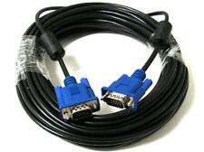 50 FEET FT 15 PIN SVGA VGA M/M LCD LED Monitor BLUE Cable 50FT Male to Male