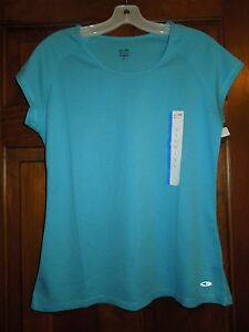 Ladies NWT Champion L / Large Athletic Apparel Short Sleeve Top Shirt Blouse