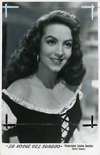 """Actrice mexicaine Maria Felix dans """"La Noche del Sabado"""", ca.1954, vintage silve"""