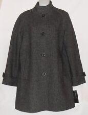 Jones New York Ladies Wool Blend Tweed Coat Gray Tweed Ten (10) NWT MSRP $299.00