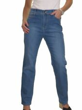 Ice High Waist Womens Plus Size Stretch Denim Straight Leg Jeans 14-24 Blue 24
