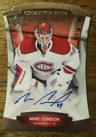 2015-16 UD Contours - MIKE CONDON #120 Canadiens Montreal Rookie Auto 195/499