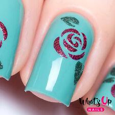 Roses Stencils for Nails, Nail Stickers, Nail Art, Nail Vinyls