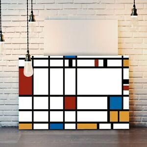 CANVAS WALL ART ARTWORK FRAMED PRINT PAINTING Piet Mondrian Style Abstract