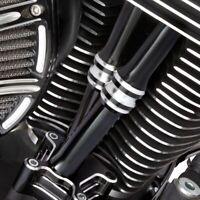 Arlen Ness 10 Gauge Black Pushrod Tube Covers Lower Harley Twin Cam 1999-2017
