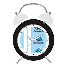 NRL Cronulla Sharks Money Bank Money Box Alarm Clock with Light Up Feature
