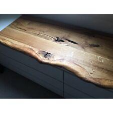 leimholzplatte rustikal plus eiche baumkante vorne 120x40x3cm geolt