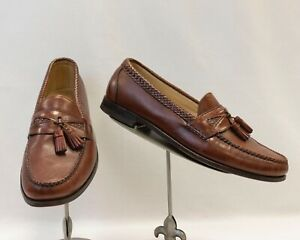 Allen Edmonds Men's Loafers Size 14B Brown Loafers with Braided Detail & Tassel