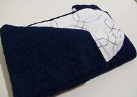 Pottery Barn Dark Blue White Multi Colors Elle Euro Pillow Cover Sham New