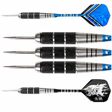 6 pcs of Steel Tip Stainless Barrel 22g Darts Nice Carving Aluminium Shaft