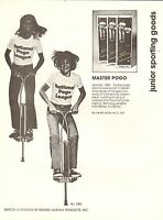 VINTAGE AD SHEET #1945 - RAPCO SPORTING GOODS - MASTER POGO