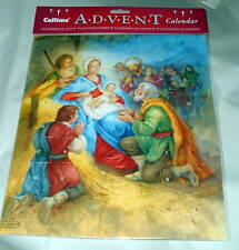 LARGE NATIVITY ADVENT CALENDAR Religious 11x13 N