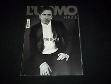 2008 JANUARY VOGUE L'UOMO MAGAZINE - TIM ROTH - BEAUTIFUL FASHION COVER - F 3083