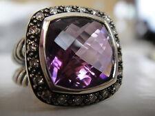 $1200 DAVID YURMAN SS MOONLIHGT ICE AMETHYST DIAMOND RING