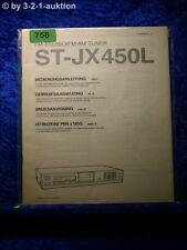 Sony Bedienungsanleitung ST JX450L FM/AM Tuner  (#0758)