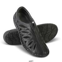 Lady's Breathable Sheep Leather Slip Ons BLACK Size 9 lightweight Shoes PROPET