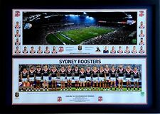 New 2018 Sydney Roosters NRL Premiers Squad and ANZ Stadium Print Framed