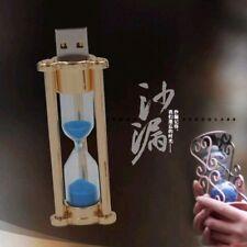 Unique Sand Glass Flash Drive 16GB LED Light Metal Hourglass USB 2.0 Pendrive