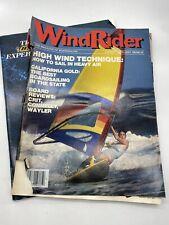 1983 Wind Surf & WindRider Magazine Boardsailing Surfer Surfing