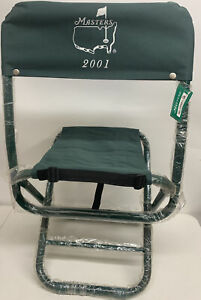 2001 Masters Augusta National Golf Fold Up Spectator Chair PGA Tiger Woods