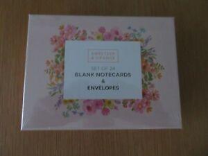 Sweetzer & Orange: Set of 24 watercolor flowers notecards & envelopes