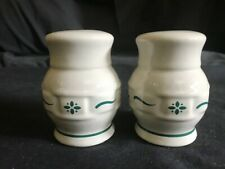 New ListingLongaberger Woven Traditions Heritage Green Stoneware Salt & Pepper Shakers,